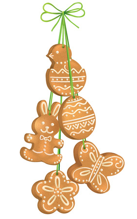 Easter biscuits Vector