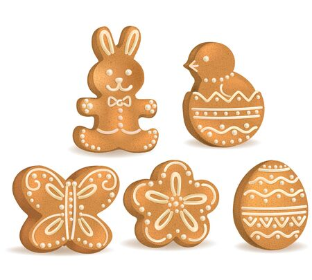 Easter cookies Vector