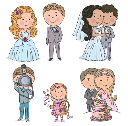 Wedding kids. Contains transparent objects. EPS10 Vector