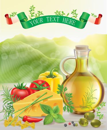 italian cuisine: Italian cuisine. Contains transparent objects.
