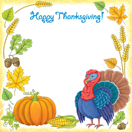 Happy Thanksgiving. Contains transparent objects.EPS 10. Vector