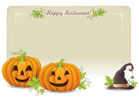 Happy Halloween background. Contains transparent objects. EPS10 Vector