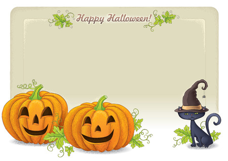 Happy Halloween background 2. Contains transparent objects.  Vector