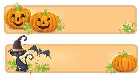 Happy Halloween banners. Vector