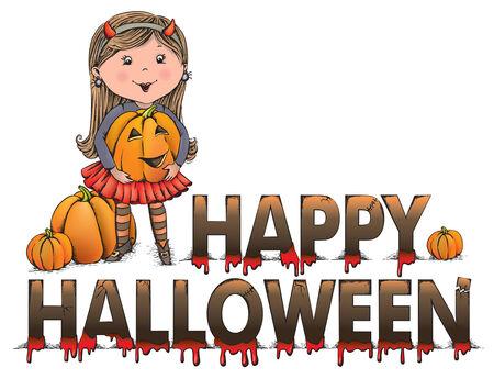 happy halloween: Happy Halloween greeting Illustration