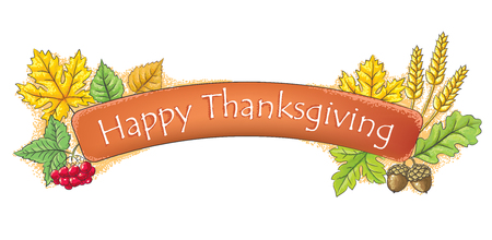 happy thanksgiving: Happy Thanksgiving banner