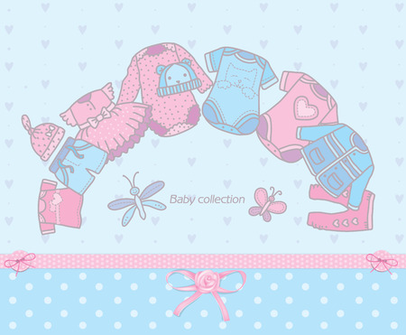 tights: Collection of clothing for kids. Eps10 format Illustration