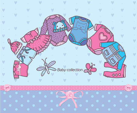 tights: Clothing collection for baby. Eps10 format Illustration
