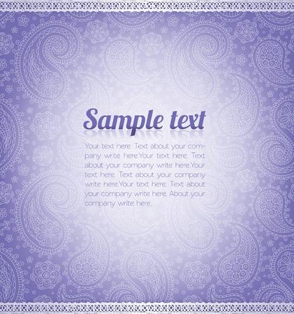 Achtergrond patroon met voorbeeld tekst. Stock Illustratie