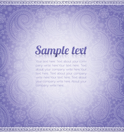 floral background: Background pattern with sample text.