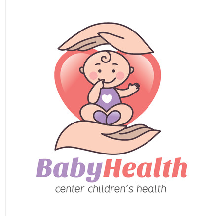 healthy person: Logo baby health. Eps10 format