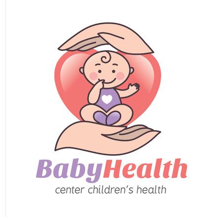 bebe a bordo: Logo de la salud del beb�. Formato Eps10 Vectores