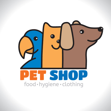Logo shop pet. Eps10 format Illustration