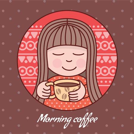 vigor: Morning coffee. Eps10 format Illustration