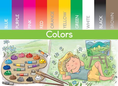 color palette: color palette and the artist at work