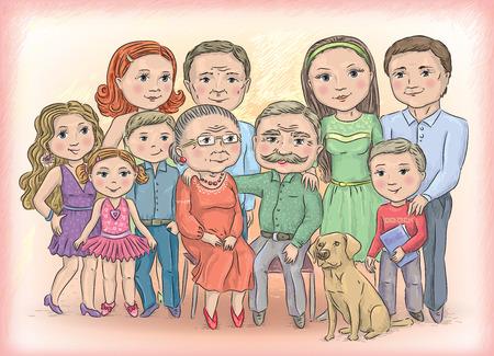 conviviale: La plupart familial et heureux Illustration