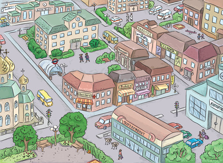 street intersection: Daily life of a city block