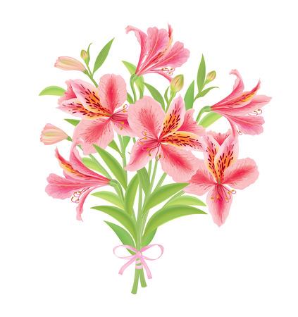 painted image: Bouquet Alstroemeria