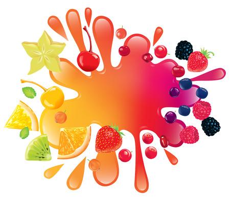 Hay gran cantidad de frutas y jugo Foto de archivo - 41113691