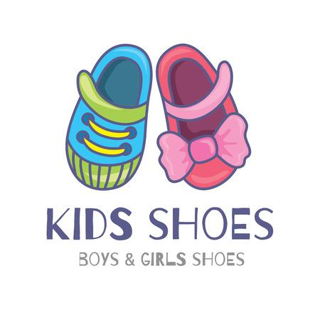 zapato: icono o símbolo de los zapatos para niños Vectores