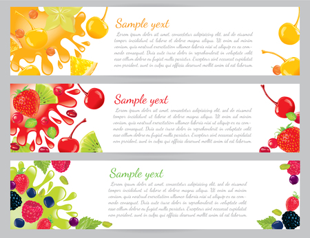 pomegranate juice: Fruit and berry banners.