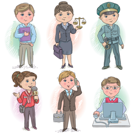 judge: Set of occupations - manager, judge, policeman, reporter, businessman and  programmer;