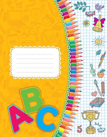 cover: Beautiful and bright cover notebook