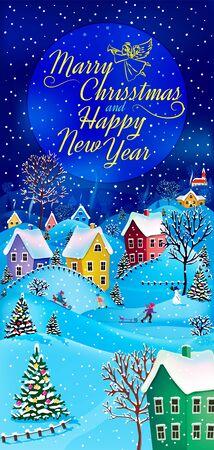 Nouvel An et carte de voeux de Noël