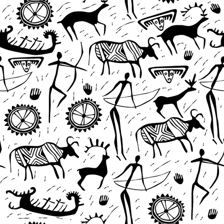 african culture: Seamless pattern ornament ancient ornament Illustration