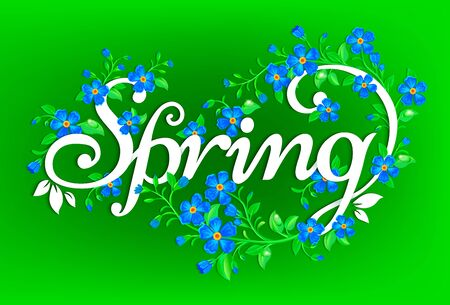 fresh flowers: Fresh and bright spring background with flowers. Illustration