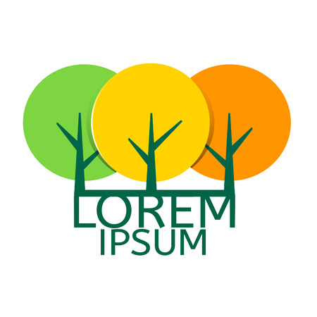 depicts: Company logo depicts three trees with text.