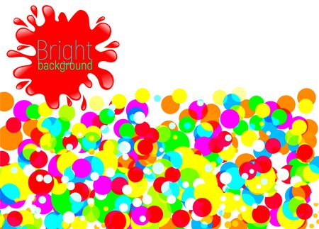 Bright background with red blot.