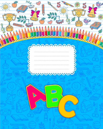 Best school notebook striped Illustration