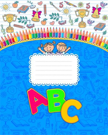 mountain ash: Best school blue notebook striped.