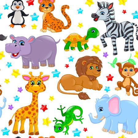 celebration party: Animal pattern stars birthday cone.