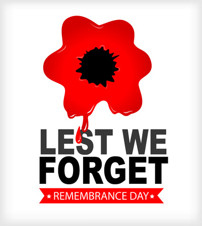 Remembrance Day Lest we forget Red poppy.