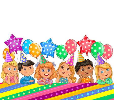 Birthday bright banner cute kids