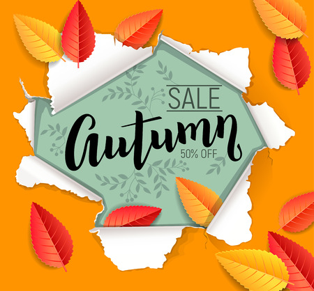 Orange and red autumn sale design