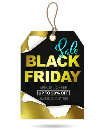 Black Friday sale gold tag design