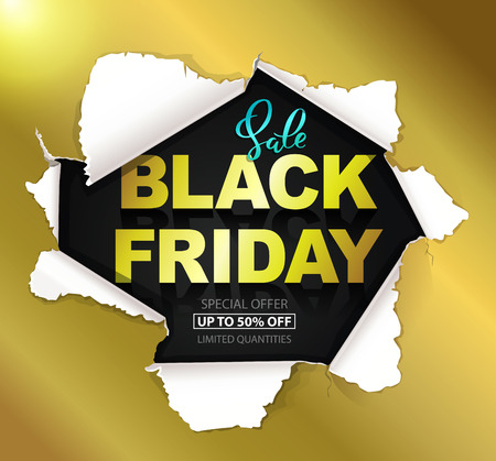 Black Friday sale gold composition Vettoriali