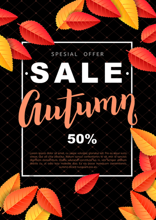 Autumn bright sale design poster