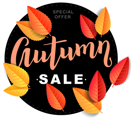 Autumn sale bright composition