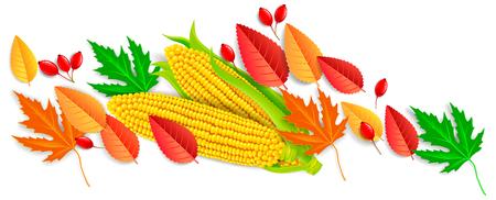 Autumn bright  horizontal banner. Eps10 Stock Illustratie