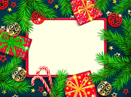 Christmas banner with blank for text.  イラスト・ベクター素材