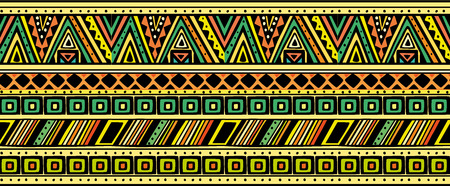 Bright horizontal ethnic pattern.