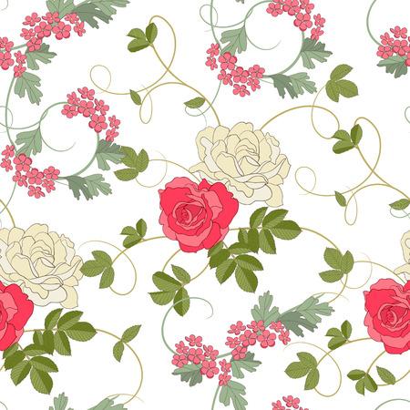 Rosen auf weißem Hintergrund