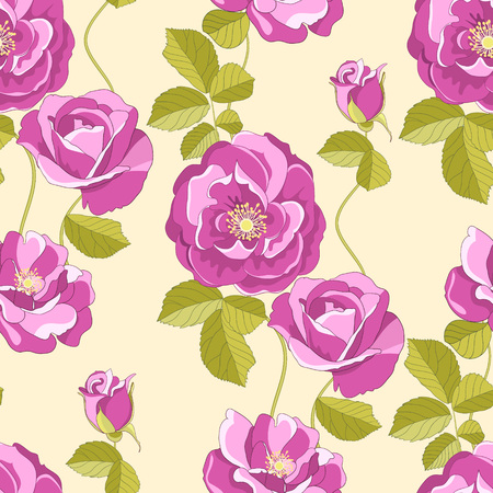 textile image: Roses seamless background