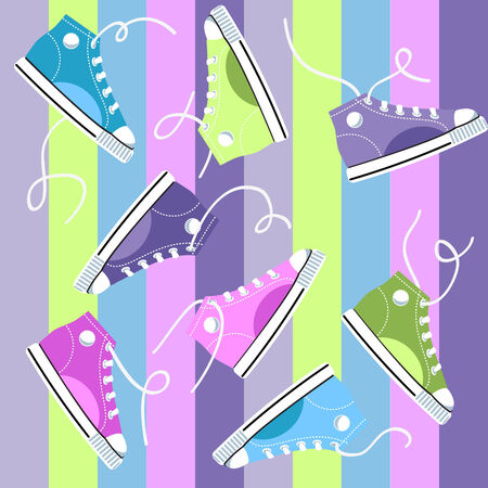teen culture: Sneakers  Illustration