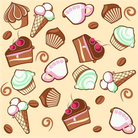 holiday cookies: Caf� de postre  Vectores