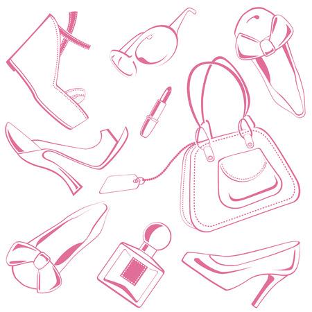 shopping bag icon: Fashion set 01